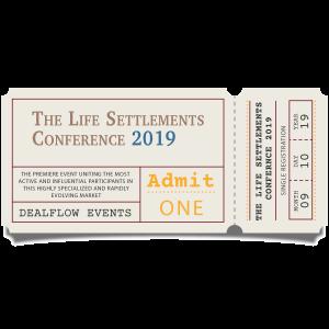 Single Registration Ticket for Life Settlements 2019